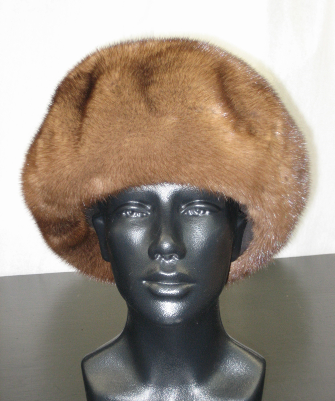 Demi Buff Mink Tam Style Hat