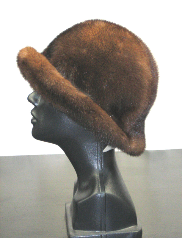 Demi Buff Mink Floppy Hat