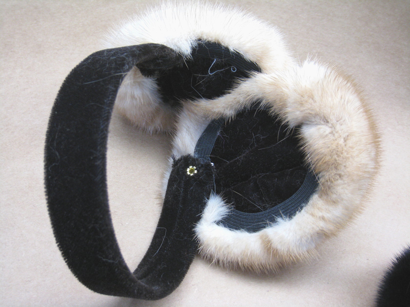 Assorted Mink Earmuffs W/ Velvet Band & Earpiece