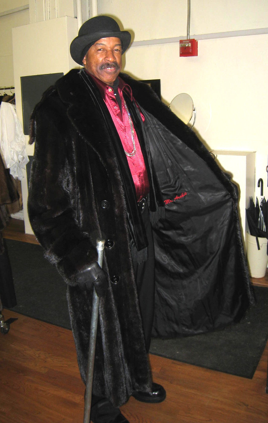 One Of Our Dapper Customers Decked Out In A Mens Ranch Mink Coat ...