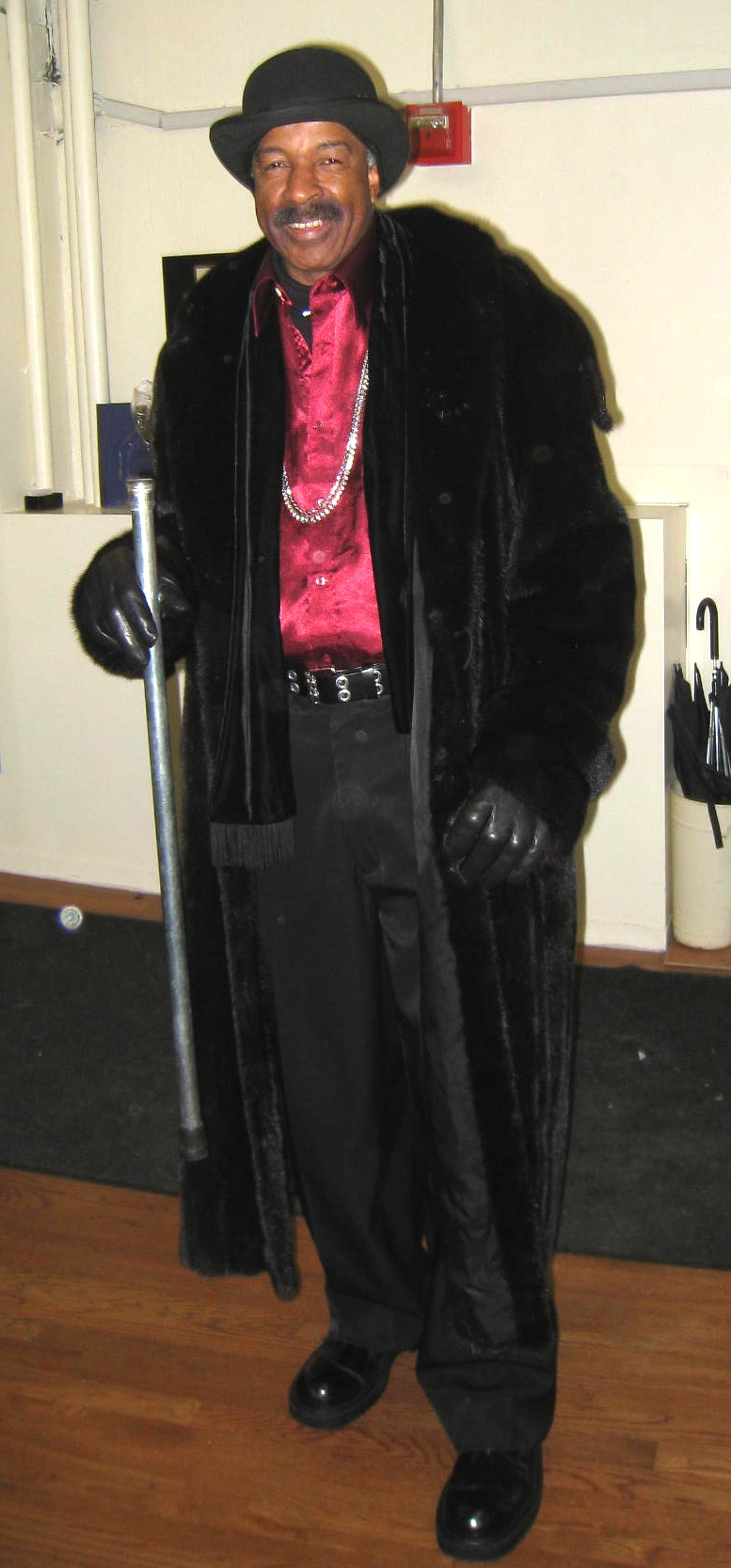 One Of Our Dapper Customers Decked Out In A Mens Ranch Mink Coat