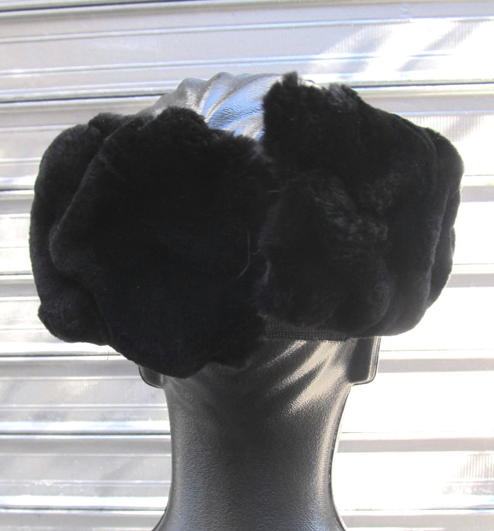 New Matara and Black Dyed Sheared Beaver Headbands
