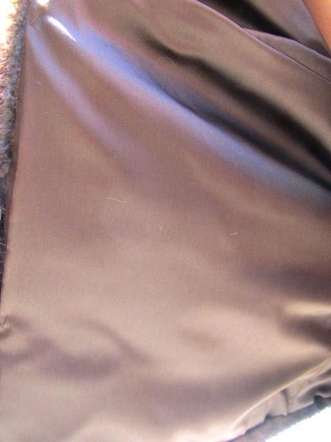 Pre-Owned Mahogany Mink & Leather Horizontal Jacket ( size: 8)