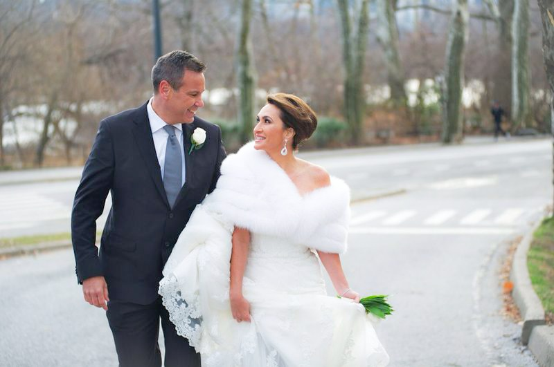 Another beautiful bride in one of our wedding stoles ( Damselle wedding stole)