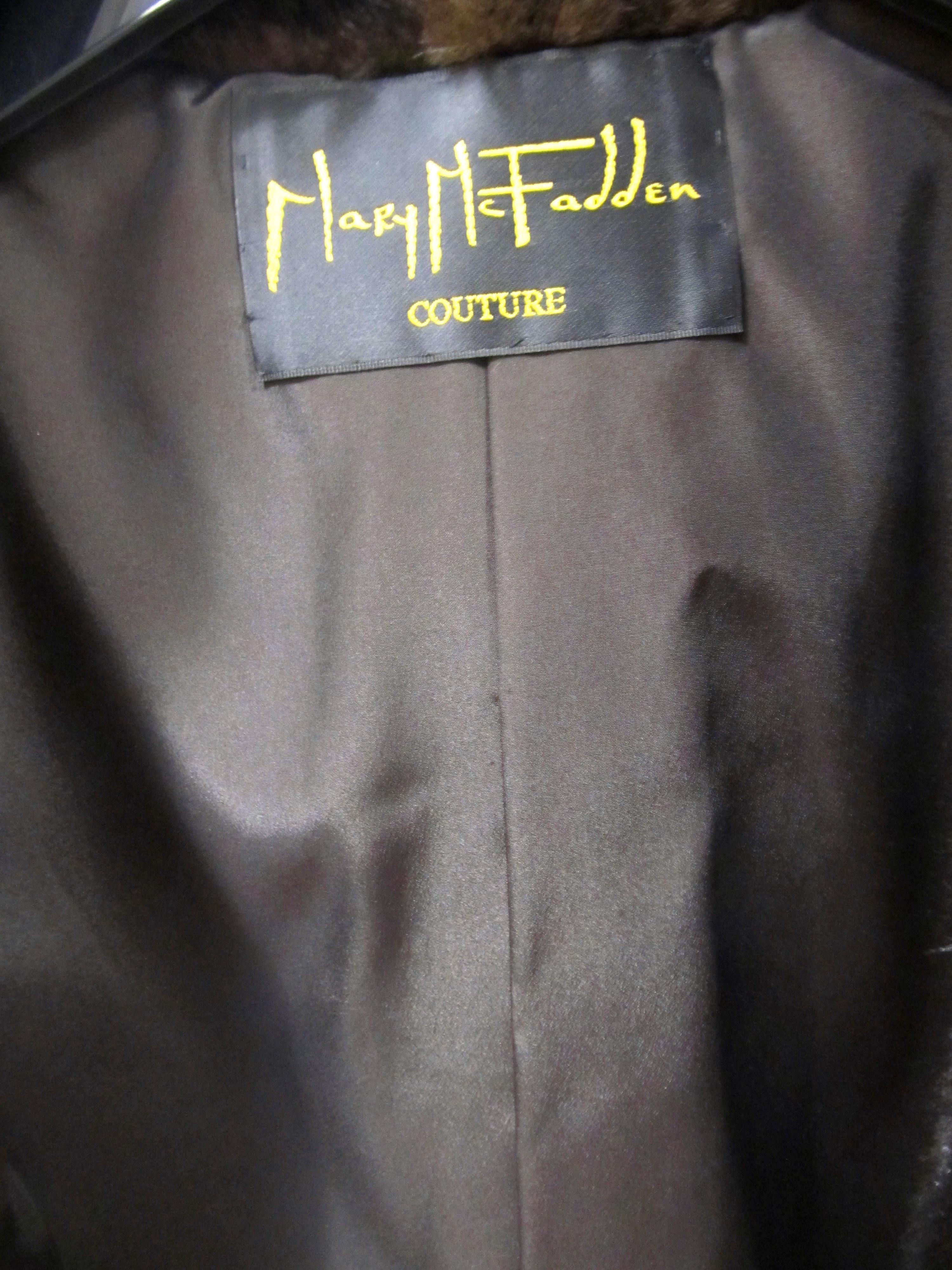 Mary McFadden Designed New Natural Mahogany Mink Vest ( size:10)