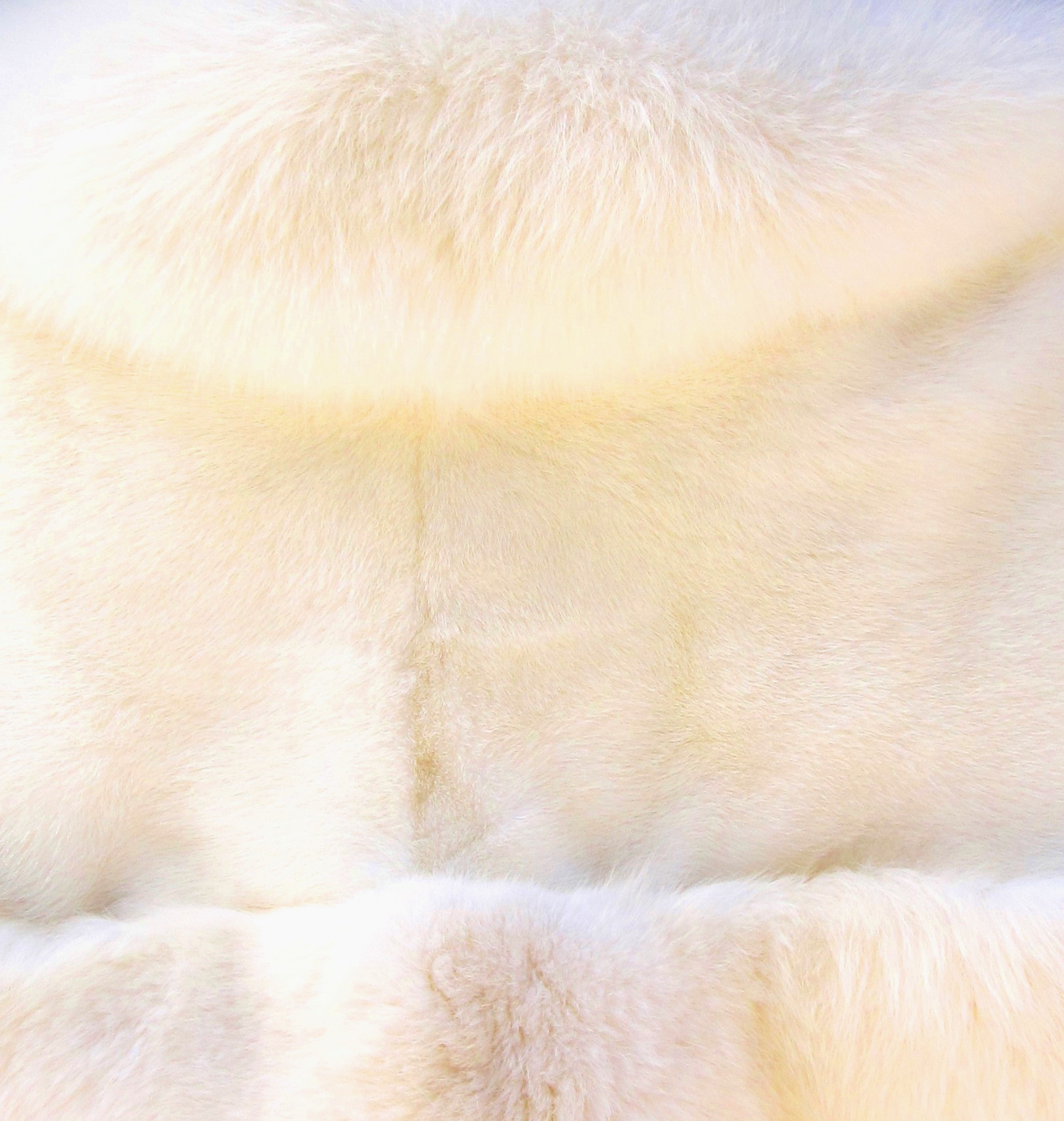 Creamy White Mink & Fox Stole ( For rental only)