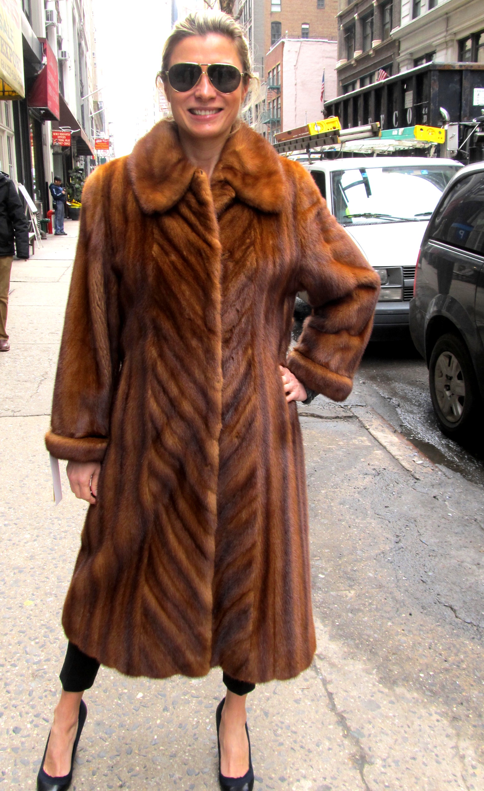 544c2da71b1 Just Reduced   Pre-Owned Cognac Dyed Female Mink Coat ( size  8 - 10 ...