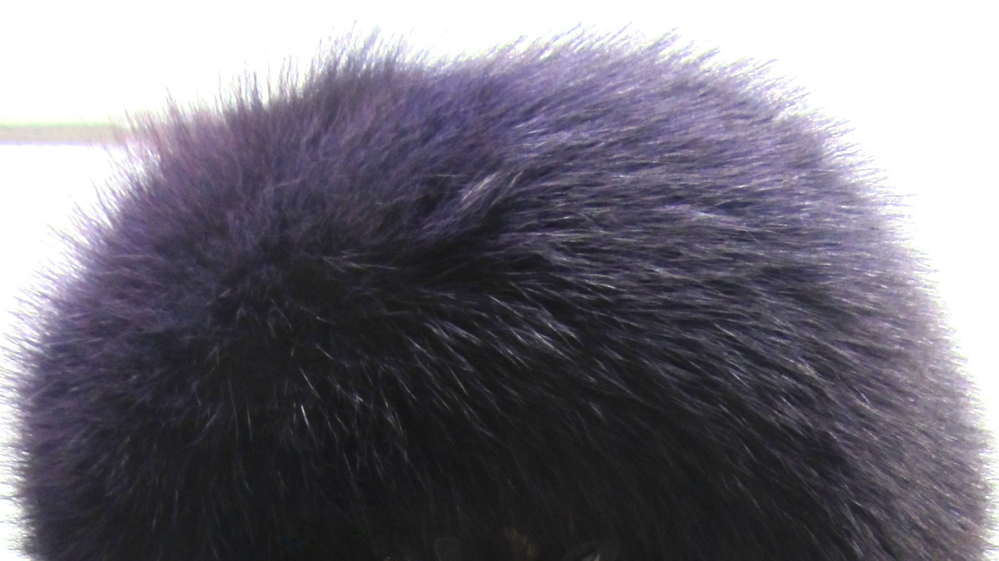 Eggplant Dyed Fox Headband
