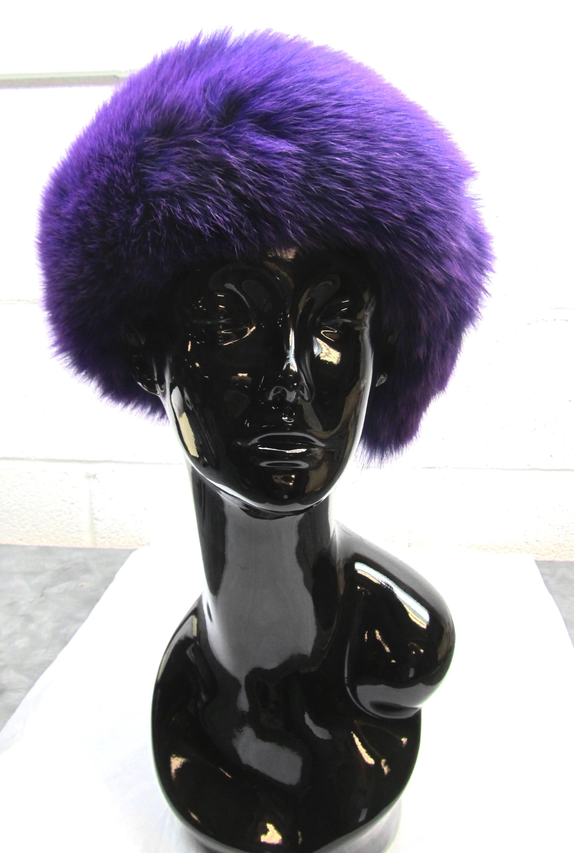 Violet Dyed Fox Headband