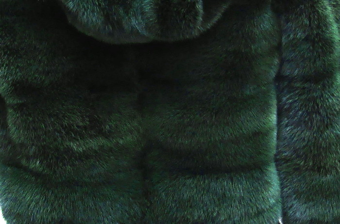 Pre-Owned Forrest Green Dyed Mink Bolero Jacket w/ Hood (size: 8 - 10) ** Remodel Sample **