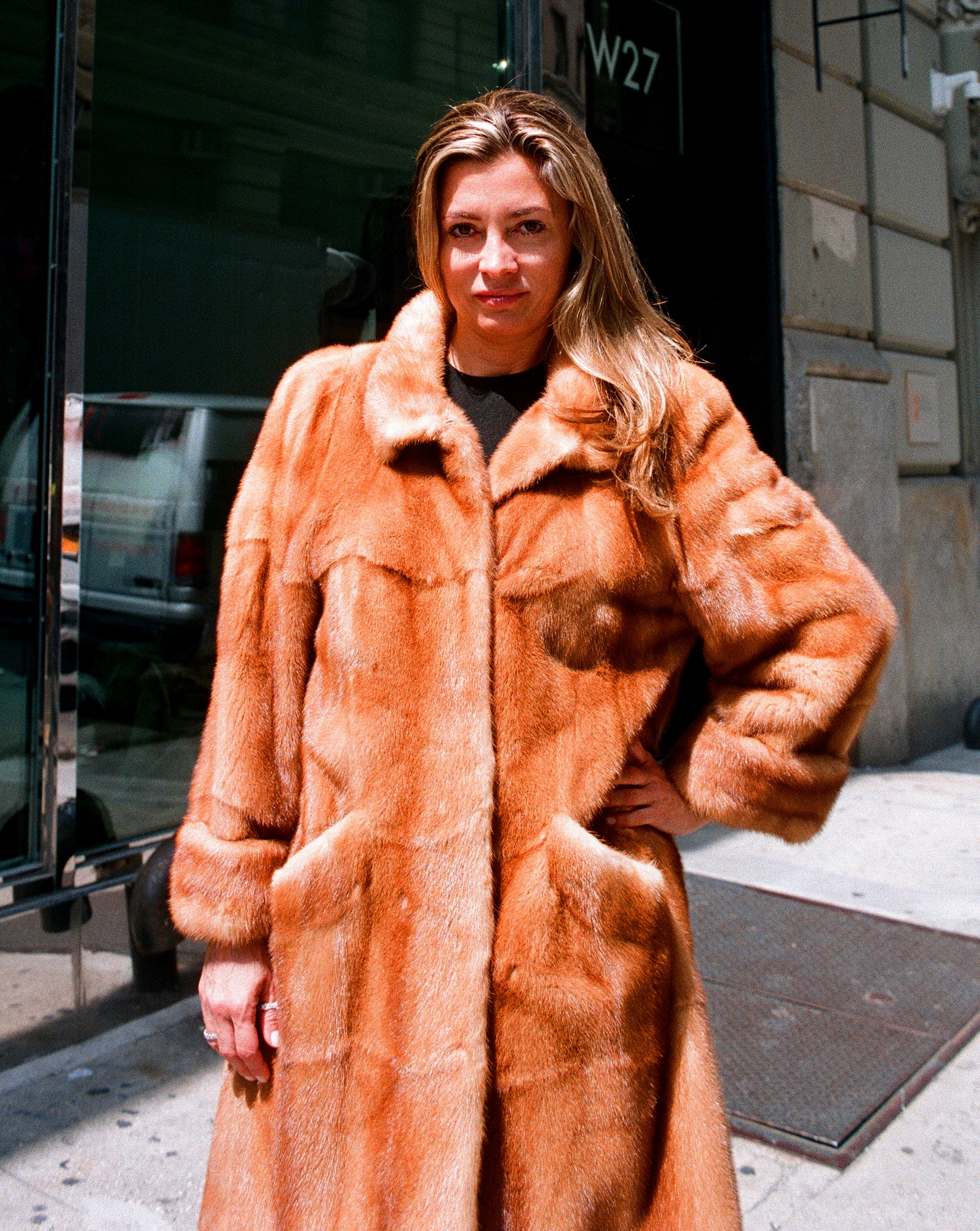 Pre-Owned Whiskey Dyed Mink Skin on Skin 7/8 Coat (size: 6 - 8)
