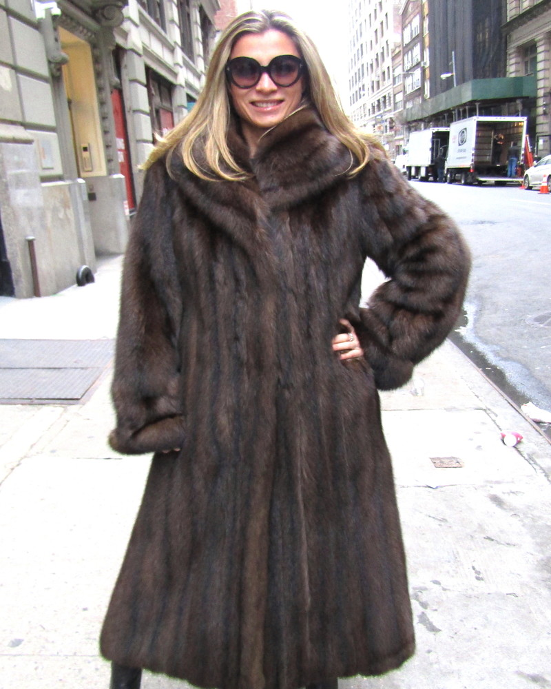 JUST REDUCED*** Barguzin Russian Sable Pre-Owned Coat (size: 8 ... for Sable Fur Cape  45hul